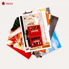 Postkartenset. Rot als urbane Farbe. 10 Postkarten. DIN A6.