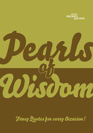 AUSVERKAUFT!  /// /// /// PACIFICOquartheft 11: Pearls of Wisdom