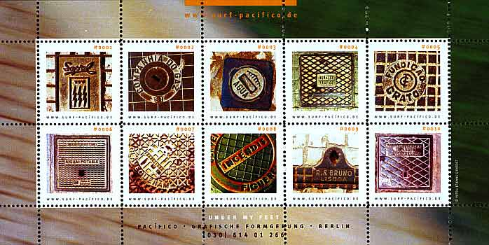 Pacifico-Briefmarken Gullideckel